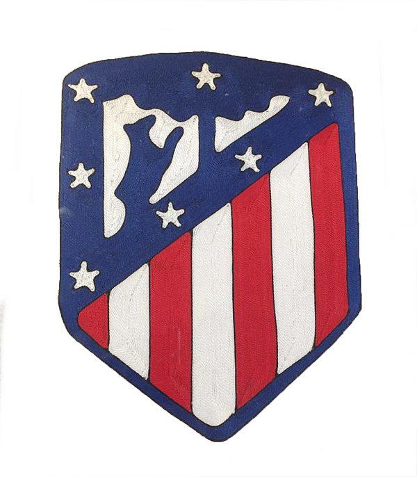 "Escudo Atlético de Madrid ""xogo de fios"""